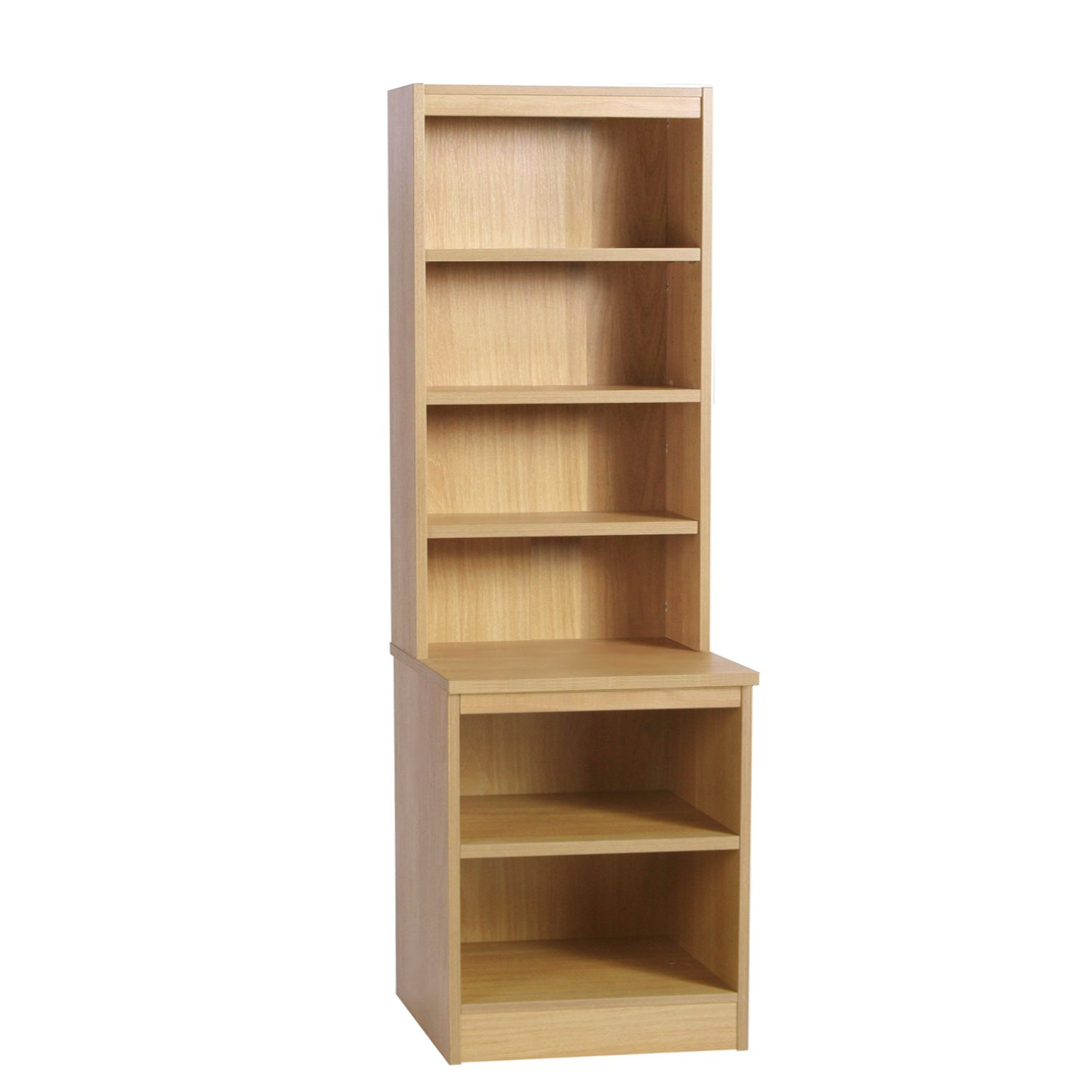 Desk Height Storage/Deep Bookcase 600mm With Hutch