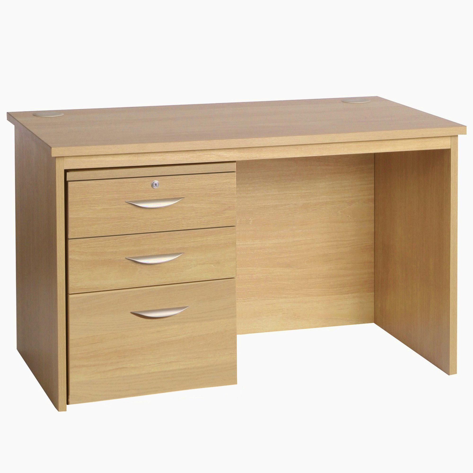 Desk Height Freestanding Large Home Office With 3 Drawer Unit Filing Cabinet