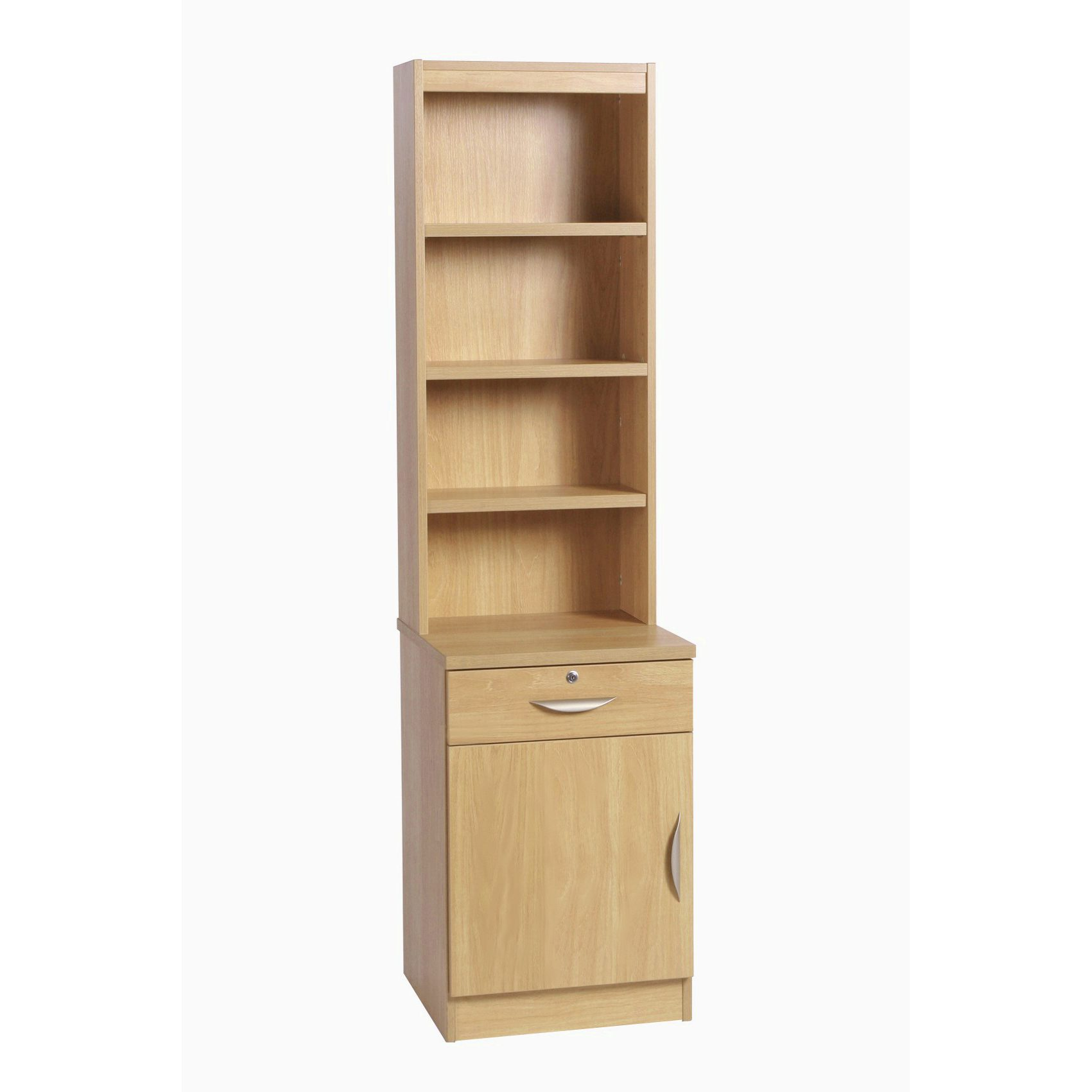 Desk Height Storage Deep Cupboard Drawer 480mm Unit Lh With Hutch Bookcase
