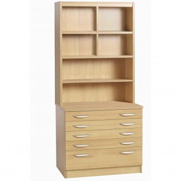 Desk Height 3 Drawer Unit Filing Cabinet With Hutch Bookcase R White Cabinets Ltd